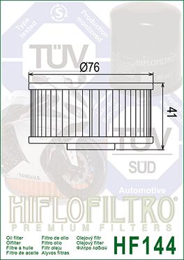 HF144 Hi-Flo Oljefilter Yamaha