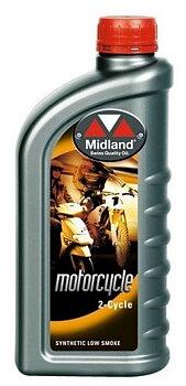 Snöskoterolja Midland 2-cycle Low Smoke Delsyntet  2 taktsolja 12 liter 21711-12