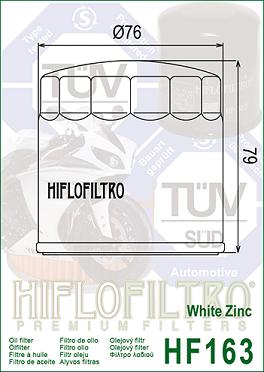HF163 Hi-Flo Oljefilter BMW