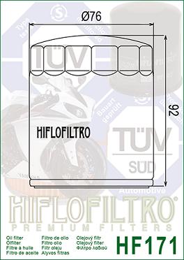 HF171C Hi-Flo Crome Oljefilter (27033)