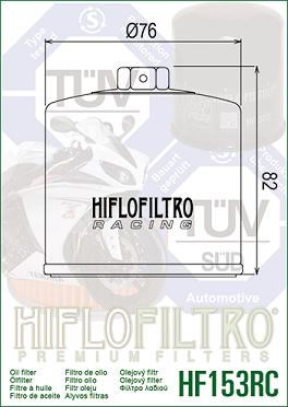 HF153RC Oljefilter Racing Ducati