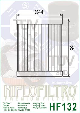 HF132 Hi-Flo Oljefilter Arctic Cat, Beta, Kawasaki, Suzuki, Sym, Yamaha