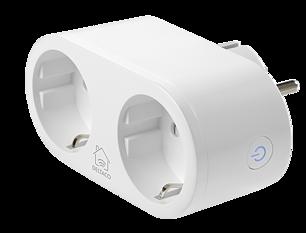 Deltaco Smart Home strömbrytare, WiFi, energiövervakning, timer