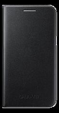Samsung Flip Wallet Cover, för Samsung Galaxy J1, svart