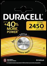Duracell knappcellsbatteri, Li-Ion, 3V, 2450, 1-pack
