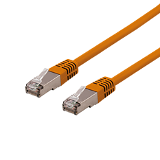 Deltaco S/FTP Cat6 patchkabel, 20m, orange