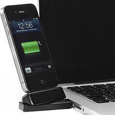 Innovazione USB-dockning för iPhone/iPod, dockkontakt, vridbar 180 grader, svart