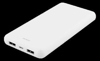 Deltaco 10 000 mAh Powerbank, 2x USB-A, 2.1A, vit