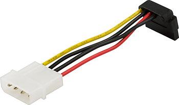 Deltaco strömkabel för Serial ATA hårddiskar, vinklad kontakt