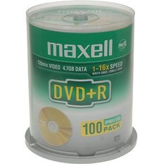 Maxell DVD+R 1-16x, 100 pack