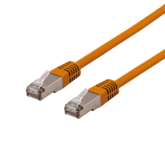 Deltaco U/FTP Cat6a patchkabel, 5m, orange