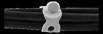 STREETZ Kabelhållare i silikon, 5 hål, 7,7cm längd, grå