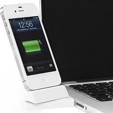 Innovazione USB-dockning för iPhone/iPod, dockkontakt, vridbar 180 grader, vit