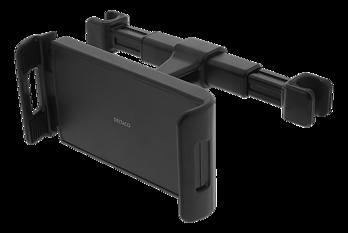 Deltaco Nackstödsfäste för telefoner och surfplattor, 360° rotation, svart