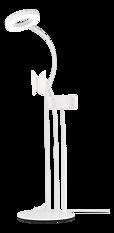 Deltaco 3-IN-1 Selfie Ring Lampa med smartphone och mikrofonhållare, vit