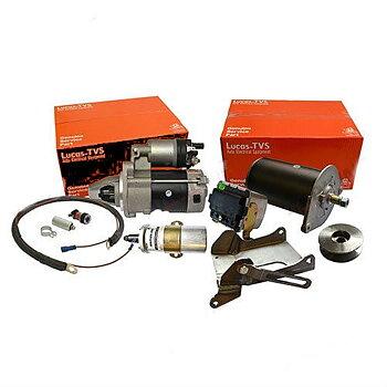 Ombyggnadsats 6 till 12 volt - Startmotor + Generator Grålle TE