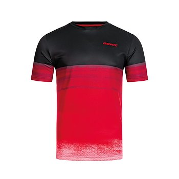 Donic T-shirt Fade, black/red