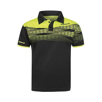 Donic shirt Clash, black/yellow