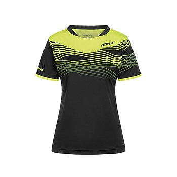 Donic ladies shirt Clash, black/yellow