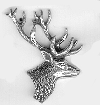 Tennbrosch Kronhjort huvud