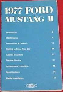1977 Mustang Owner's Manual
