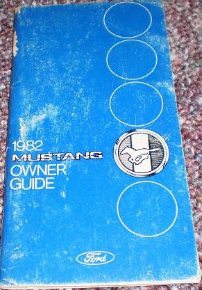 1982 Mustang Owner's Manual