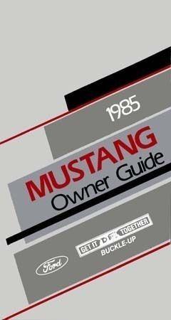 1985 Mustang Owner's Manual