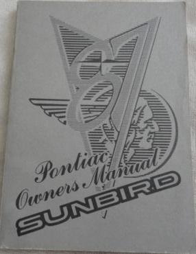 1987 Pontiac Sunbird Owners Manual