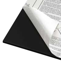 Foamboard 5 mm, black one-side self-adhesive