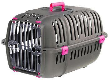 Transportbur Jet grå/rosa