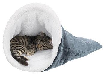 Sov- och lekpåse blå-vit