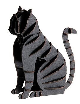 3D-pappersmodell Svart katt