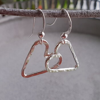 Heart Earrings - 925 Sterling Silver