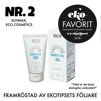 Sun Milk SPF 50 Sensitive 75ml - Eco Cosmetics , Bäst före 09 2021