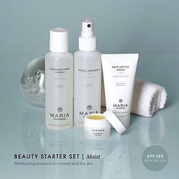 Beauty starter set Moist - Normal/ torr hud - MARIA ÅKERBERG. Värde 666:-