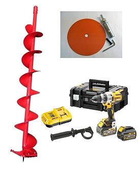 Skruvdragar Paket Dewalt, Iceman Pro 150mm +  Adapter Skruvdragare (2x6AH)