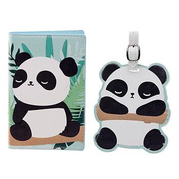 Passikotelo ja matkalaukun nimilappu, Panda