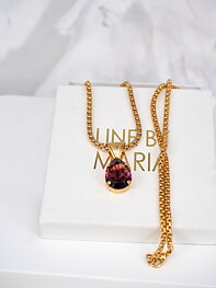 Necklace Swarovski Khloe Pedant Drop Amethyst Ignite Gold