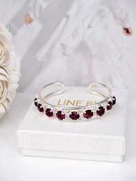 Cuff Bracelet Elena Amethyst Ignite Silver