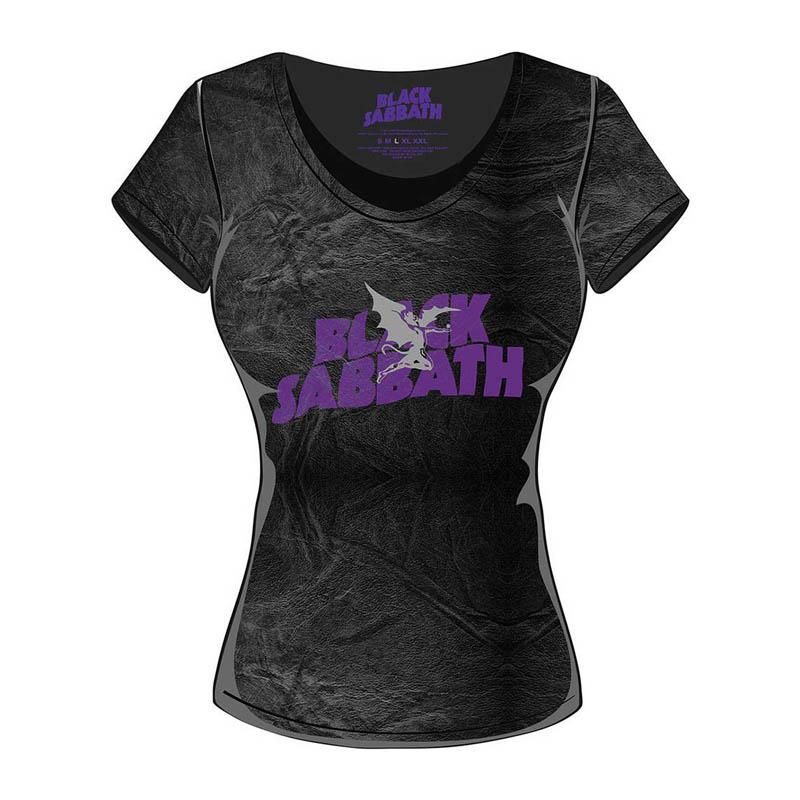 Black Sabbath Purple Logo Grey Shirt S-XXL T-Shirt Official Metal Band Tshirt