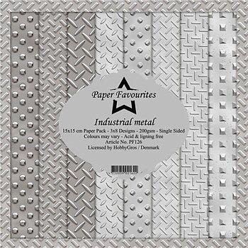 "Paper Favourites -inustrialmetal 6x6"""
