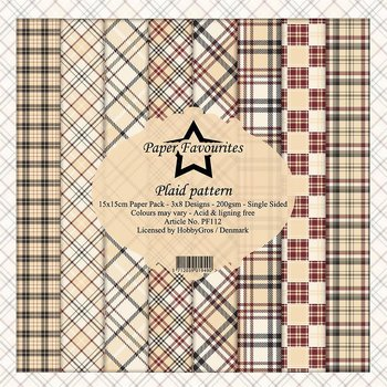 Paper Favourites - Plaid Pattern 6x6""