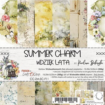 Craft O´ Clock -  wsummer charm - 6x6""