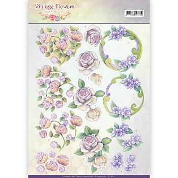 Jeanines Art - Klippark -Vintage flowers 44