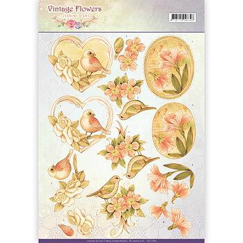Jeanines Art - Klippark -Vintage flowers 49