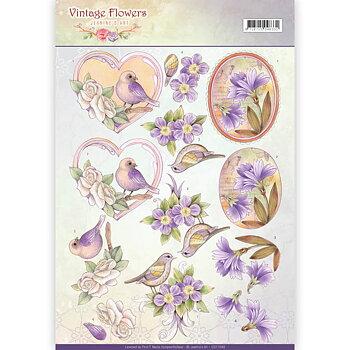 Jeanines Art - Klippark -Vintage flowers 48
