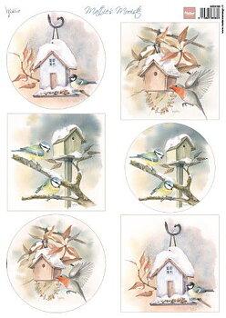 Marianne Design - Klippark- birdhouses mb0188