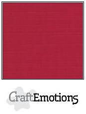 Cardstock - Linen -christmas red 10-pack