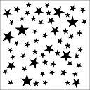 13@rts - Mixed media stencil - stars