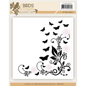 Jeanines Art - Embossingfolder - birds and flowers